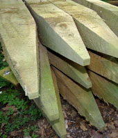 Pointed Square Posts