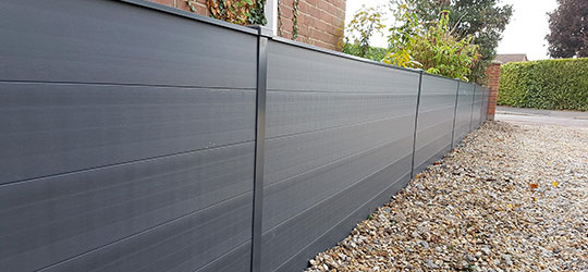 DuraPost Fence posts with composite gravel boards